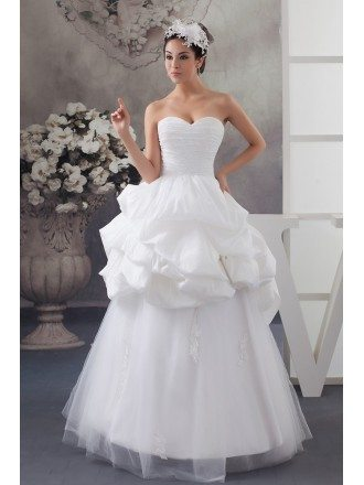 Fashion Lace Top Sweetheart Tiered Wedding Dress Custom
