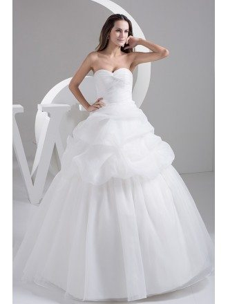 Sweetheart Tiered Organza Ballgown Wedding Dress Custom