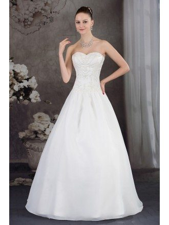 Handmade Beaded Ballgown Wedding Dress Sweetheart