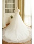 Boho Lace A Line Beach Wedding Dress Plus Size With Sleeves 2018