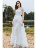 Country Chic Informal Boho Beach Wedding Dress Sleeveless For Destination