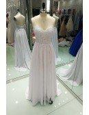 Backless Lace Beach Wedding Dress Boho With Slit Destination Weddings