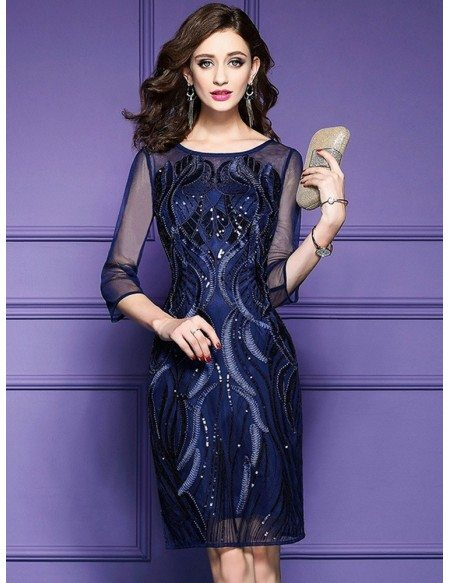 Classy Royal Blue Luxe Embroidered Cocktail Dress For Weddings Wedding Guests Zl8011 Gemgrace Com,Winter Wedding Guest Dresses 2020 Uk
