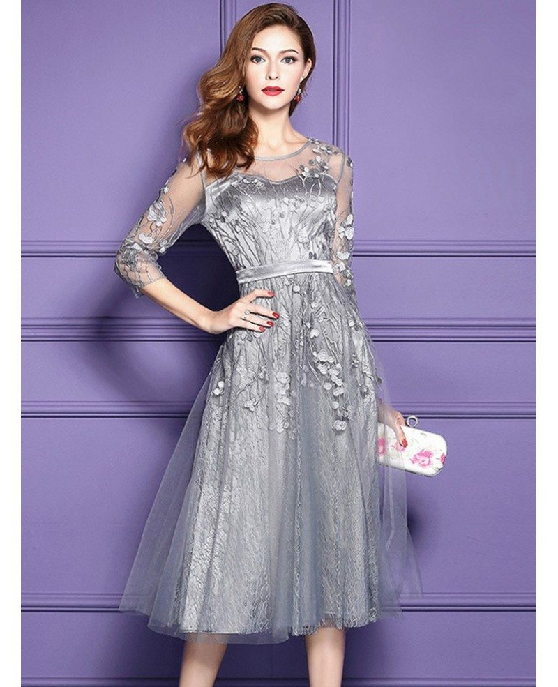 lace midi dress for wedding guest