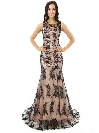 Mermaid Scoop Sweep-length Prom Dress