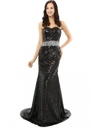 Mermaid Sweetheart Sweep-length Prom Dress