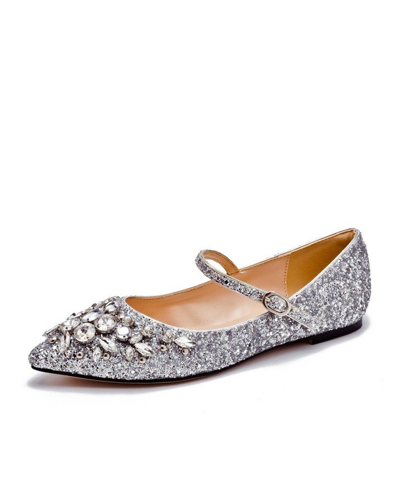 Comfy Shiny Crystal Strappy Prom Shoes