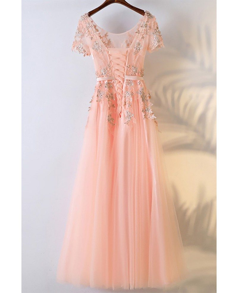 Peachy Pink Prom Dresses