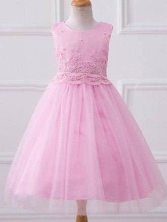 Simple Ballgown Tulle formal Girls Pageant Dress Flower Girl Dress