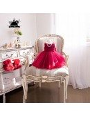 Super Cute Fuchsia Tutu Tulle Flower Girl Dress For Toddler Girls Weddings