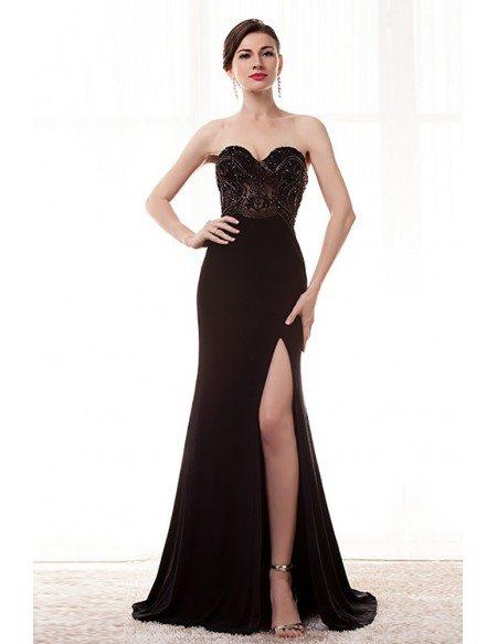 Black Strapless Formal Dresses