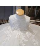 Super Cute Lace Ivory Flower Girl Dress Puffy Tulle Princess Wedding Dress