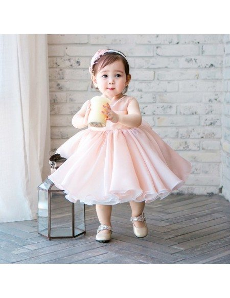High-end Pink Tutu Flower Girl Dress Toddler Girls Pageant Gown
