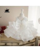 High-end Puffy Princess Ivory Flower Girl Dress Baby Girls Pageant Gown