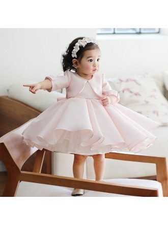 Super Cute Puffy Pink Tutus Flower Girl Dress Short Pageant Gown