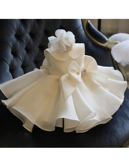 Unique Ivory Couture Flower Girl Dress Spring Weddings Pageant Gown