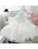 Unique Puffy Princess Flower Girl Dress Couture Pageant Gown For Girls