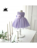 Couture Lavender Princess Tulle Flower Girl Dress Country Weddings