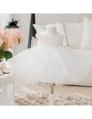High-end Sequined White Tulle Flower Girl Dress Tutus Girls Ballet Dress