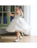 Super Cute White Princess Flower Girl Dress Baby Toddler Pageant Gown