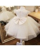 Cute White Puffy Toddler Flower Girl Dress Ballgown Pageant Dress