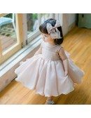 Blush Pink Cute Puffy Flower Girl Dress Baby Toddler Pageant Gown