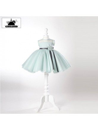 High-end Puffy Ballet Flower Girl Dress With Sash For Weddings