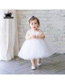Super Cute White Flower Girl Tutu Dress Toddler Kids Pageant Gown
