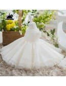 Couture Ivory Flower Girl Dress Wedding Pageant Gown Toddler Kids Party