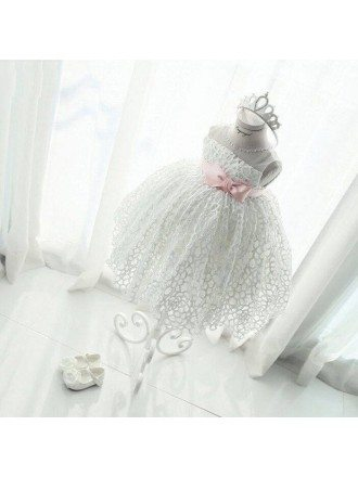 Unique Lace Princess Ballgown Flower Girl Dress For Wedding Formal Parties