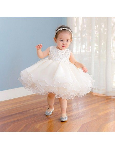 High Quality Puffy Tulle Toddler Flower Girl Dress For Weddings