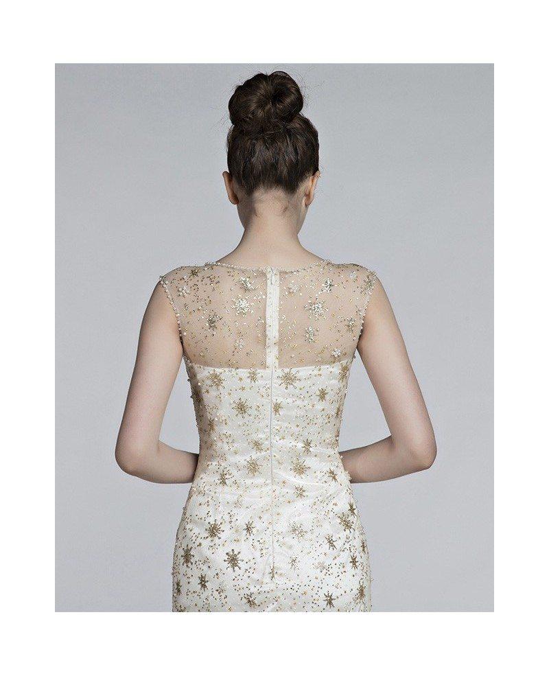 Inexpensive Non Traditional Wedding Dresses: Non Traditional Sparkly Beach Wedding Dress For 2018