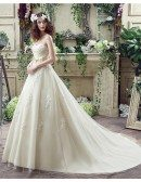 Casual Champagne Bridal Dress Ball Gown For 2018 Weddings