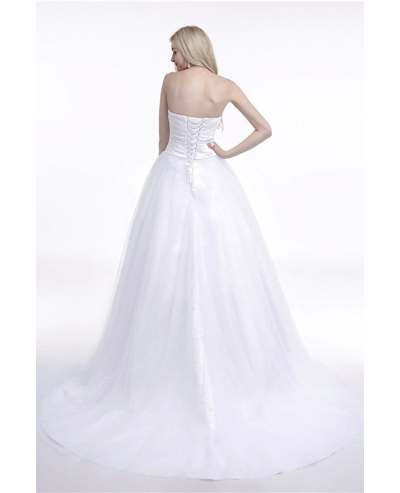 Wedding Dresses Ball Gown Corset: Elegant Corset Strapless Bridal Dress Ball Gown With