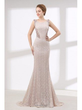 Glamorous Fitted Pink Lace Prom Dress Long For Petite Woman
