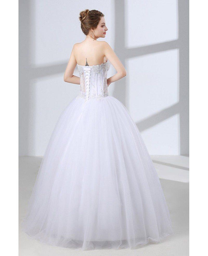 Best Ball Gown Wedding Dresses: Sweetheart Corset Ball Gown Wedding Dress With Sexy