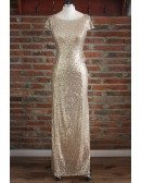 Gold Sparkly Bridesmaid Dresses Long Metallic Formal Dress With Drape Down Under $100