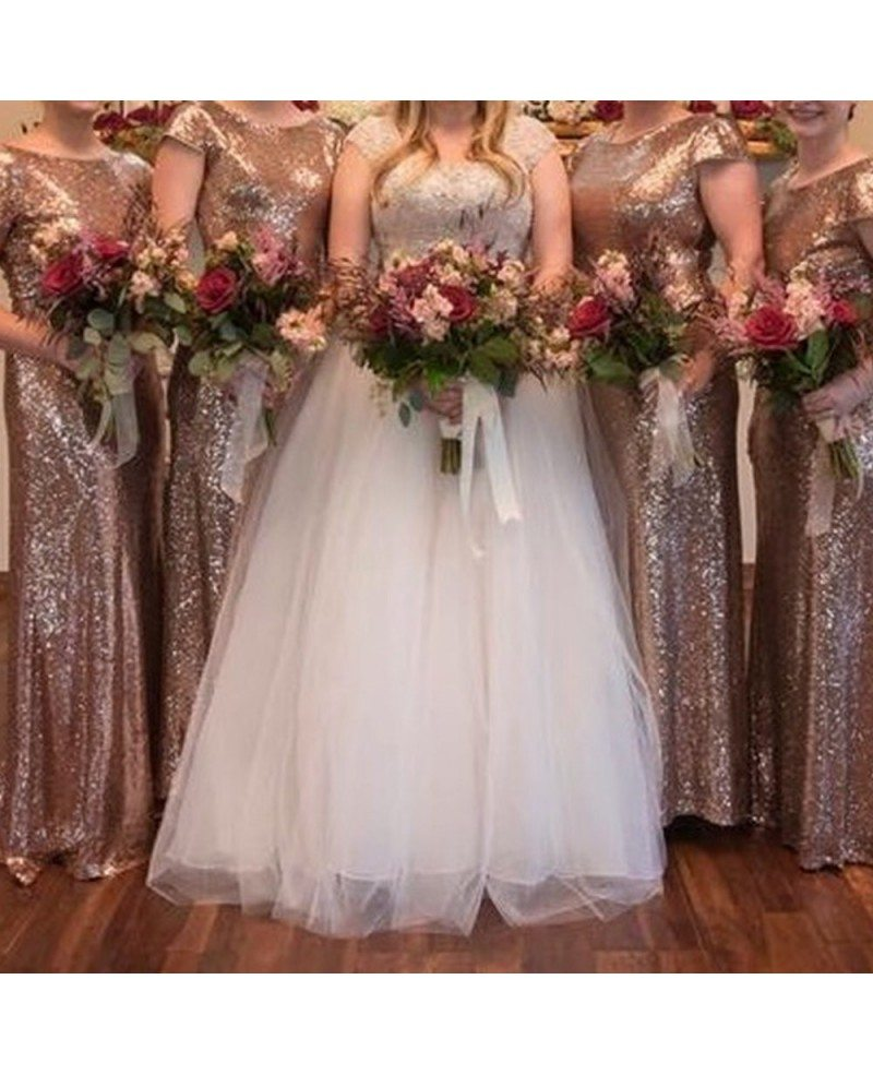 new product top-rated new authentic Boutique Rose Gold Long Bridesmaid Dresses For Weddings Formal Occasions  With Cowl Back #S7CK87 - GemGrace.com