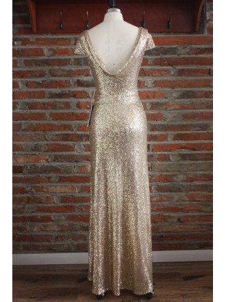 Boutique Rose Gold Long Bridesmaid Dresses For Weddings Formal Occasions With Cowl Back