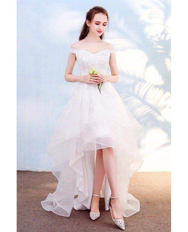 Beach Wedding Dress With Off Shoulder