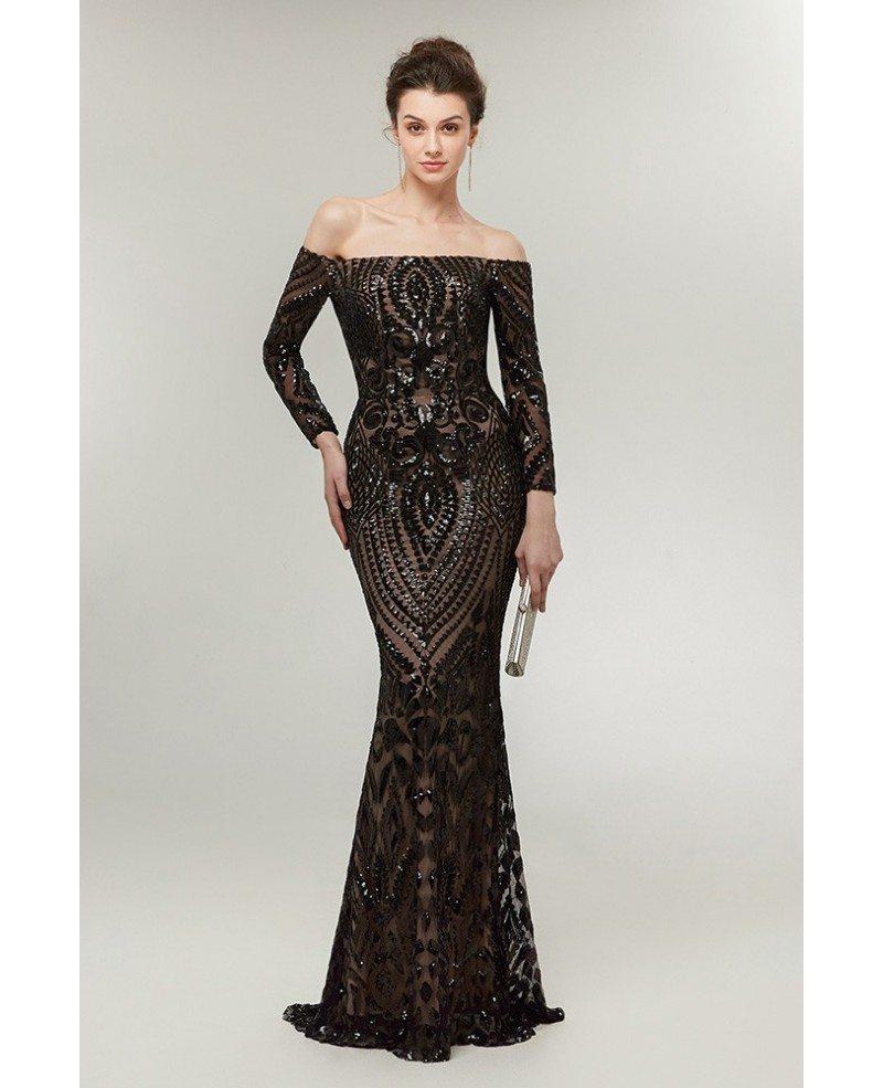 Black Long Tight Prom Dresses