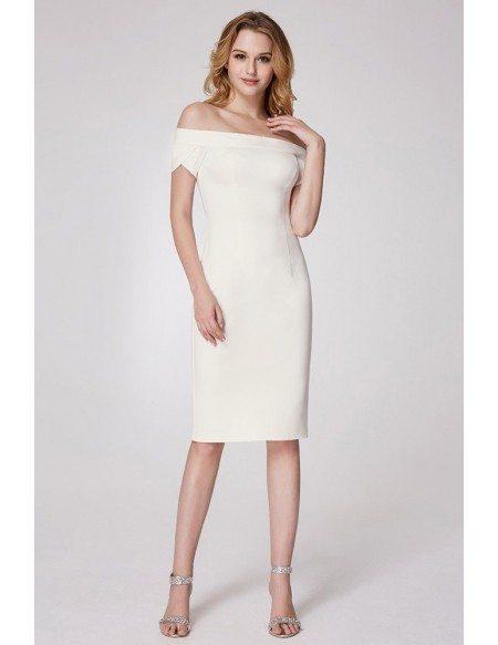 Trendy Off Shoulder Formal Dress With Short Sleeves