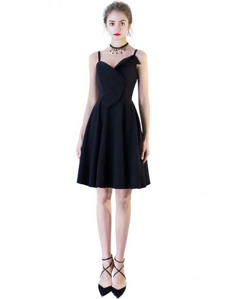 Simple Chic Short Homecoming Dress with Straps