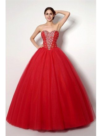 Ball-gown Sweetheart Floor-length Prom Dress