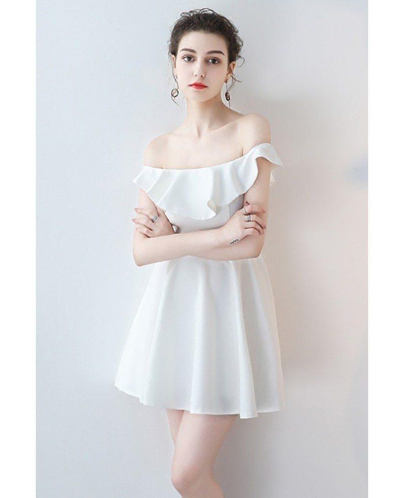 Off Shoulder Mini Homecoming Dress