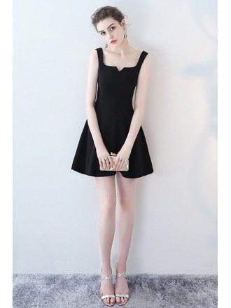Little Black Mini Homecoming Party Dress Aline Flare
