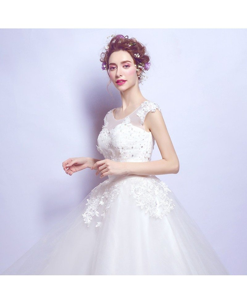 Vintage Tea Length Lace Beading Wedding Dress With Cap Sleeves Wholesale T69552 Gemgracecom