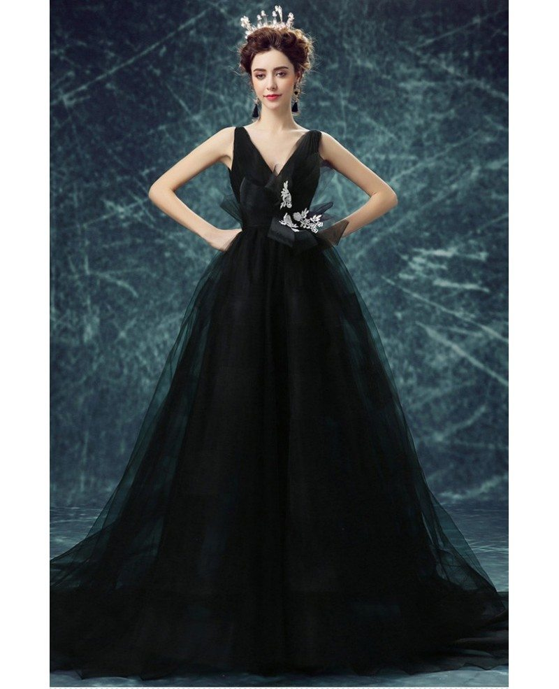 party wear simple black gown