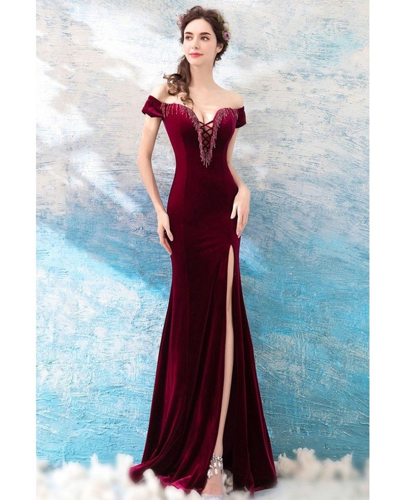 Velvet Prom Gowns