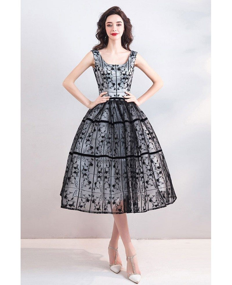 Vintage Chic Black Lace Tulle Ball Gown Short Party Dress Wholesale T69015 Gemgracecom